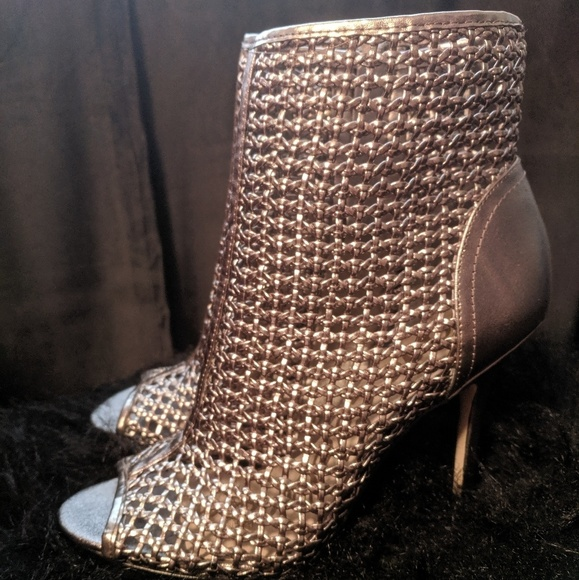 Sam Edelman Shoes - Sam Edelman Pewter Peep Toe Booties